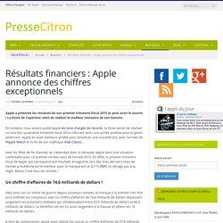 Résultats financiers : Apple annonce des chiffres exceptionnels
