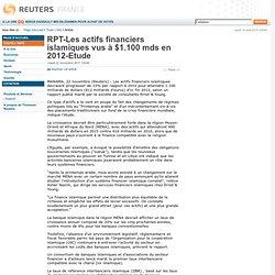 RPT-Les actifs financiers islamiques vus à $1.100 mds en 2012-Etude