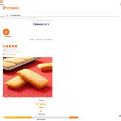 Financiers : Recette de Financiers