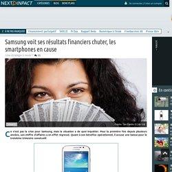 Samsung voit ses résultats financiers chuter, les smartphones en cause
