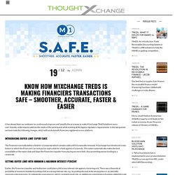 Know How M1xchange TReDS Is Making Financiers Transactions SAFE – Smoother, Accurate, Faster & Easier – M1xchange