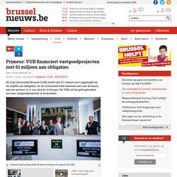 Primeur: VUB financiert vastgoedprojecten met 61 miljoen aan obligaties