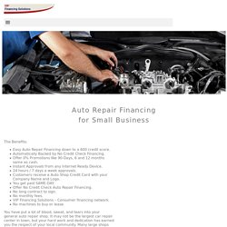 Auto Repair Financing with Easy Approvals - VIP Financing Solutions