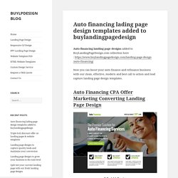 Auto financing business landing page design template for sale