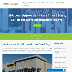 SBA Financing, Business Loans & Lenders