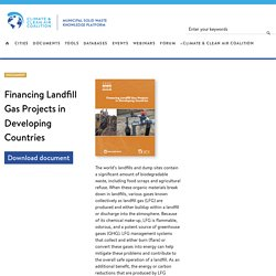 Financing Landfill Gas Projects in Developing Countries