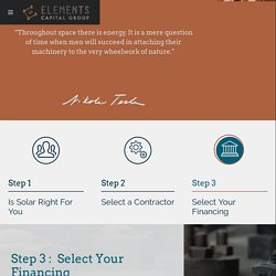 Step 3: Select Your Financing - Elements Capital Group