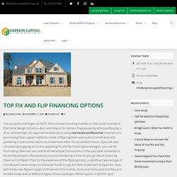 Top Fix and Flip Financing Options