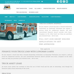 semi truck financing with no down payments sydney