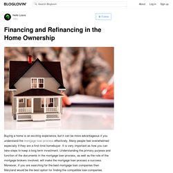Financing and Refinancing in the Home Ownership