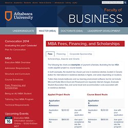 www.mba.athabascau.ca - Tuition and Fees - MBA
