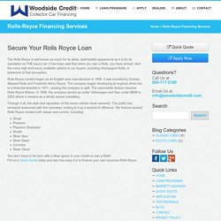 Get Rolls-Royce Finance by Woodside Credit