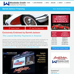 Barrett Jackson Financing Services - Woodside Credit
