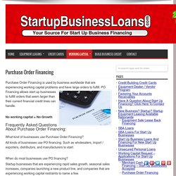 Purchase Order Financing - StartupBusinessLoans.com
