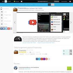 Financisto pour GoClever TAB T76GPS- Téléchargement gratuit Android programmes pour pour les tablettes