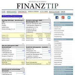 Finanzmathematik: Rentenrechnung