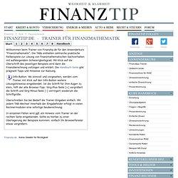 Trainer für Finanzmathematik - Finanztipps