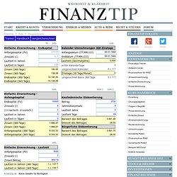 Finanzmathematik: einfache Zinsrechnung