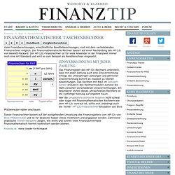 Finanzmathematischer Taschenrechner