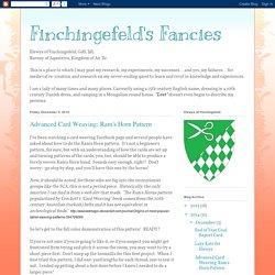 Finchingefeld's Fancies: Advanced Card Weaving: Ram's Horn Pattern