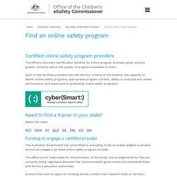 Find an online safety program