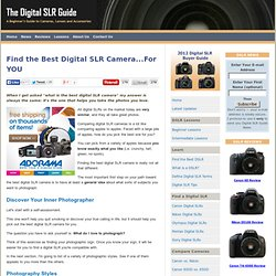 How to Find the Best Digital SLR Camera