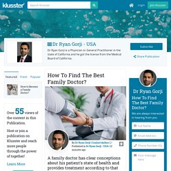 How To Find The Best Family Doctor?
