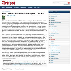 Find The Best Builders In Los Angeles - Qlook.bz