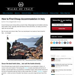 How to Find Cheap Accommodation in Italy