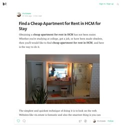 Find a Cheap Apartment for Rent in HCM for Stay