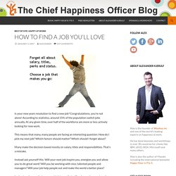How to find a job you'll love