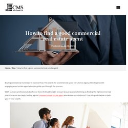 Find a good commercial real estate agent