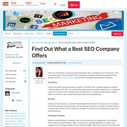 Find Out What a Best SEO Company Offers - SEO Mumbai (Mumbai)