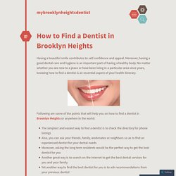 How to Find a Dentist in Brooklyn Heights