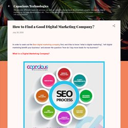 How to Find a Good Digital Marketing Company?