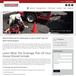 How to find out if a drain plan is up-to-date? Tips for New Home Buyers -