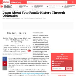 How to Find Your Family History in Obituaries