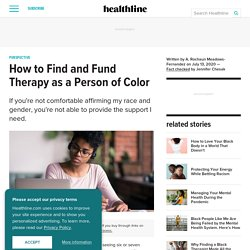 How to Find and Fund Therapy as a Person of Color