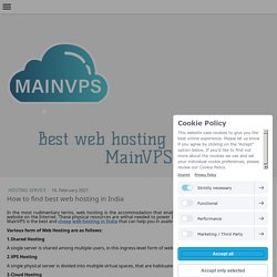 How to find best web hosting in India - mainvps-net