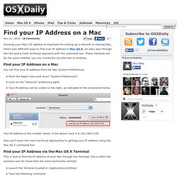 IP Address on a Mac