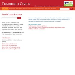 Find Lessons - Teaching Civics