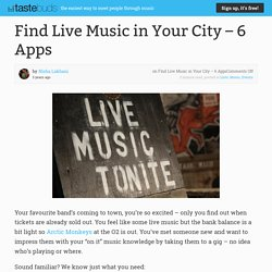 Find Live Music in Your City – 6 Apps · Tastebuds Blog