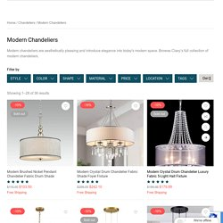 Find Modern Chandeliers to Glam Up Your Home- Claxy