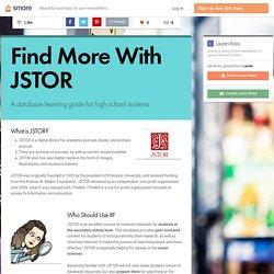 Find More With JSTOR (Lauren R.)