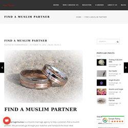 Find A Muslim Partner