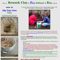 How to Find, process, and fire clay without a kiln