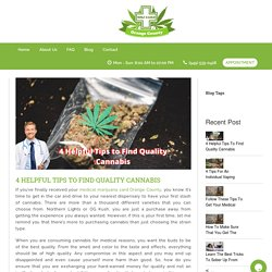 Simple tips to find quality cannabis