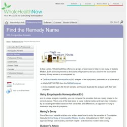 Find the Remedy Name