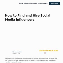 How to Find and Hire Social Media Influencers