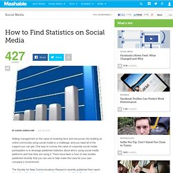 How to find statistics on social media